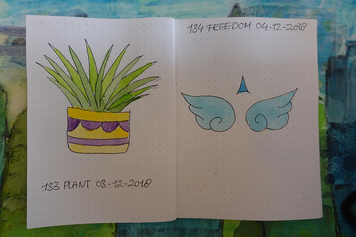 travel journal tekening