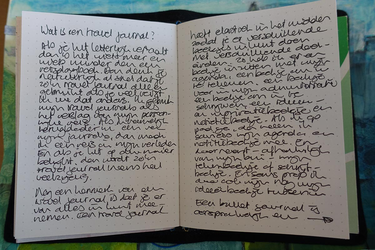 travel journal tekst