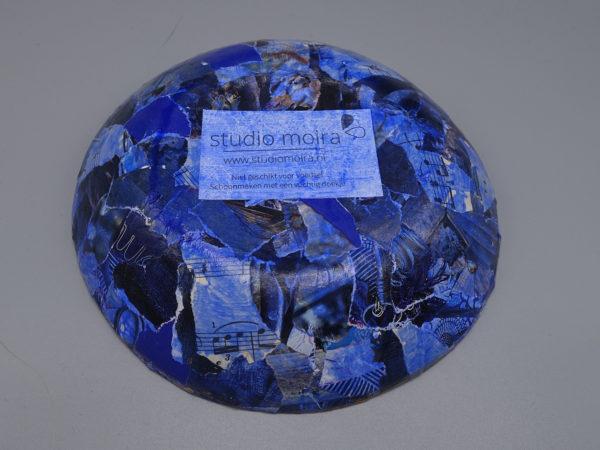 Kommetje blauw achter