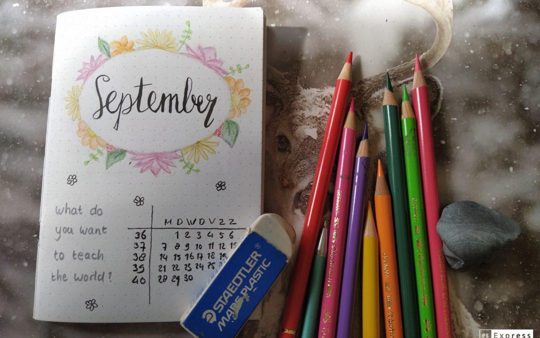Weekplanner september 2020